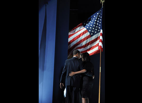 Barack and Michelle Obama Flag