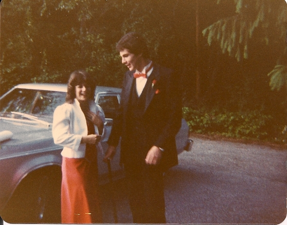 Jim and I before my senior prom. He taught me to swing dance for the event.