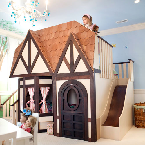 DIY Kids Loft Bed Wooden PDF simple kids playhouse plans free ...