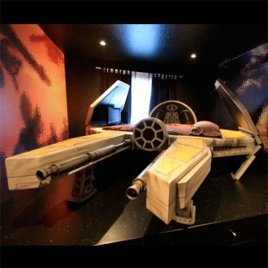Deep Space Fighter Bed - (Though let's face facts - it's an unliscenced Star Wars bed) - Priced on demand, and I am sure more than my car cost.